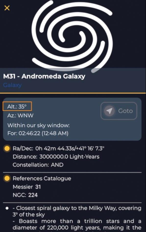 EVscope app Explore tab