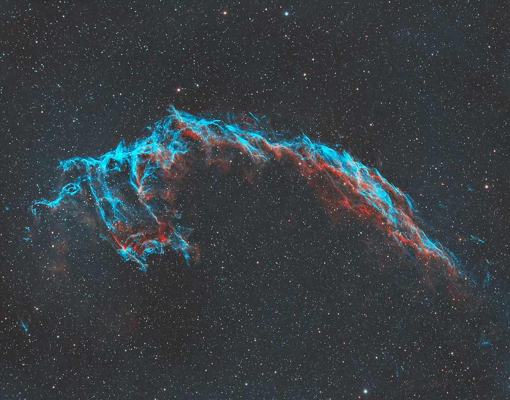 The Eastern Veil Nebula Astrophotography from the Backyard Las Vegas
