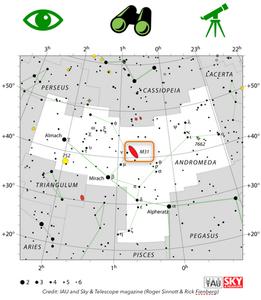 Comment trouver la galaxie d'andromède dans le ciel
