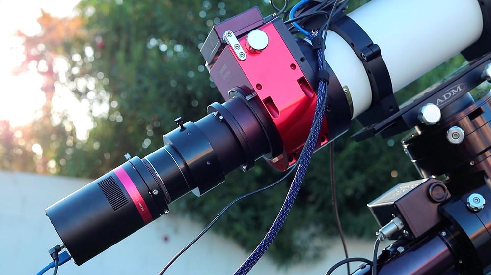 The QHY600C full frame camera on the Stellarvue SVX130T