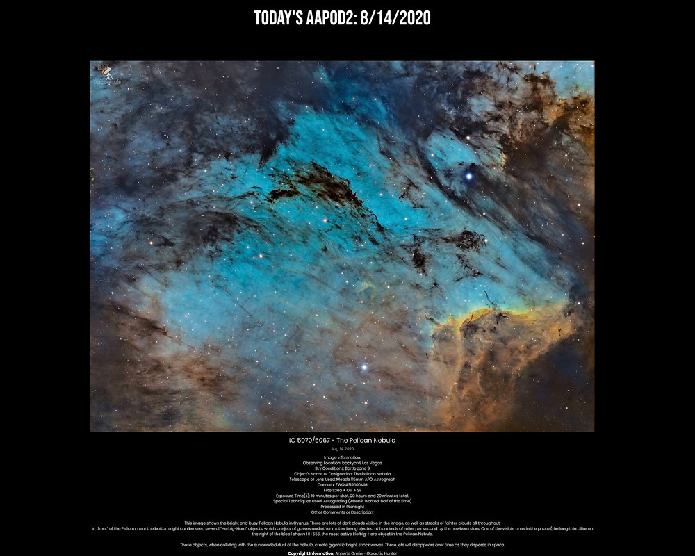 Pelican Nebula AAPOD2 Galactic Hunter