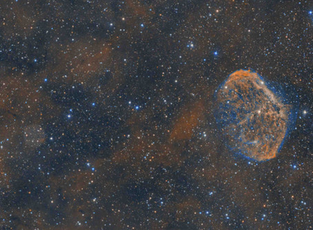 NGC 6888 - The Crescent Nebula with a guest!