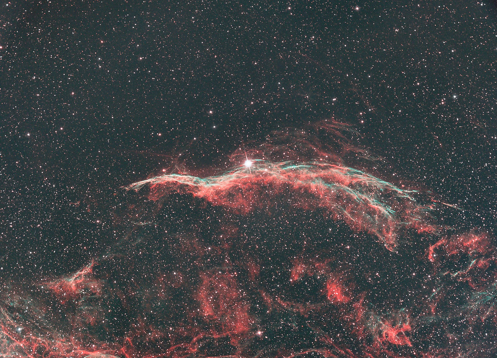 The Veil Nebula from the backyard with the TRIAD Ultra filter