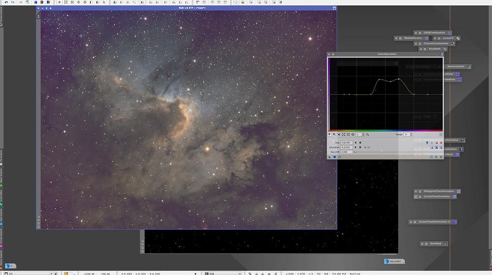 Processing Sh2-155 on PixInsight