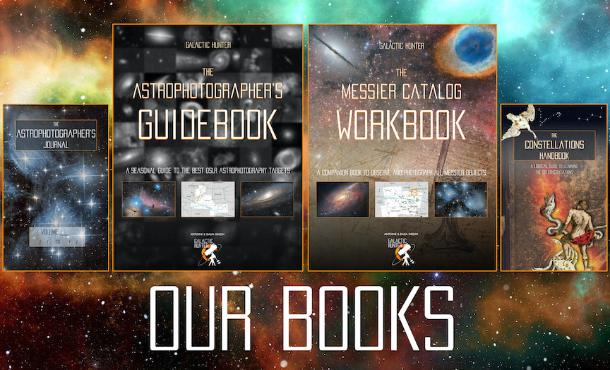 Galactic Hunter Astrophotography books