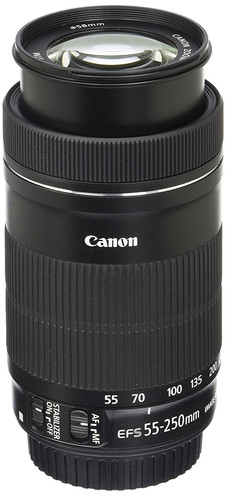 Canon EF 55-250mm f/4.5-6 IS STM DSLR Camera lens for beginner Astrophotographers, affordable telephoto lens for amateur astrophotography. How to photograph the Milky Way and deep sky objects with a DSLR camera