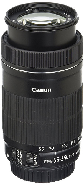 Canon EF 55-250mm DSLR Camera telephoto lens for beginner Astrophotographers, affordable lens for amateur astrophotography. How to photograph the Milky Way and deep sky objects with a DSLR camera