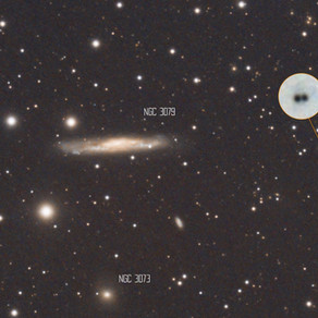 The Twin Quasar - First proof of Gravitational Lensing - Amateur Astrophotography