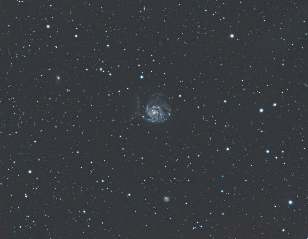 M101 the Pinwheel Galaxy Astrophotography Meade 70mm APO and ASI 1600mm