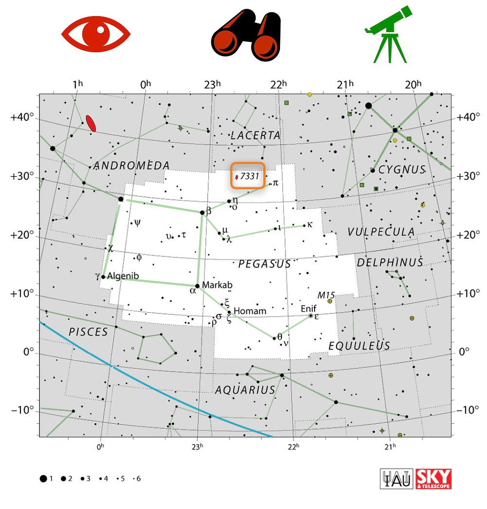 How to find Stephan's Quintet, map