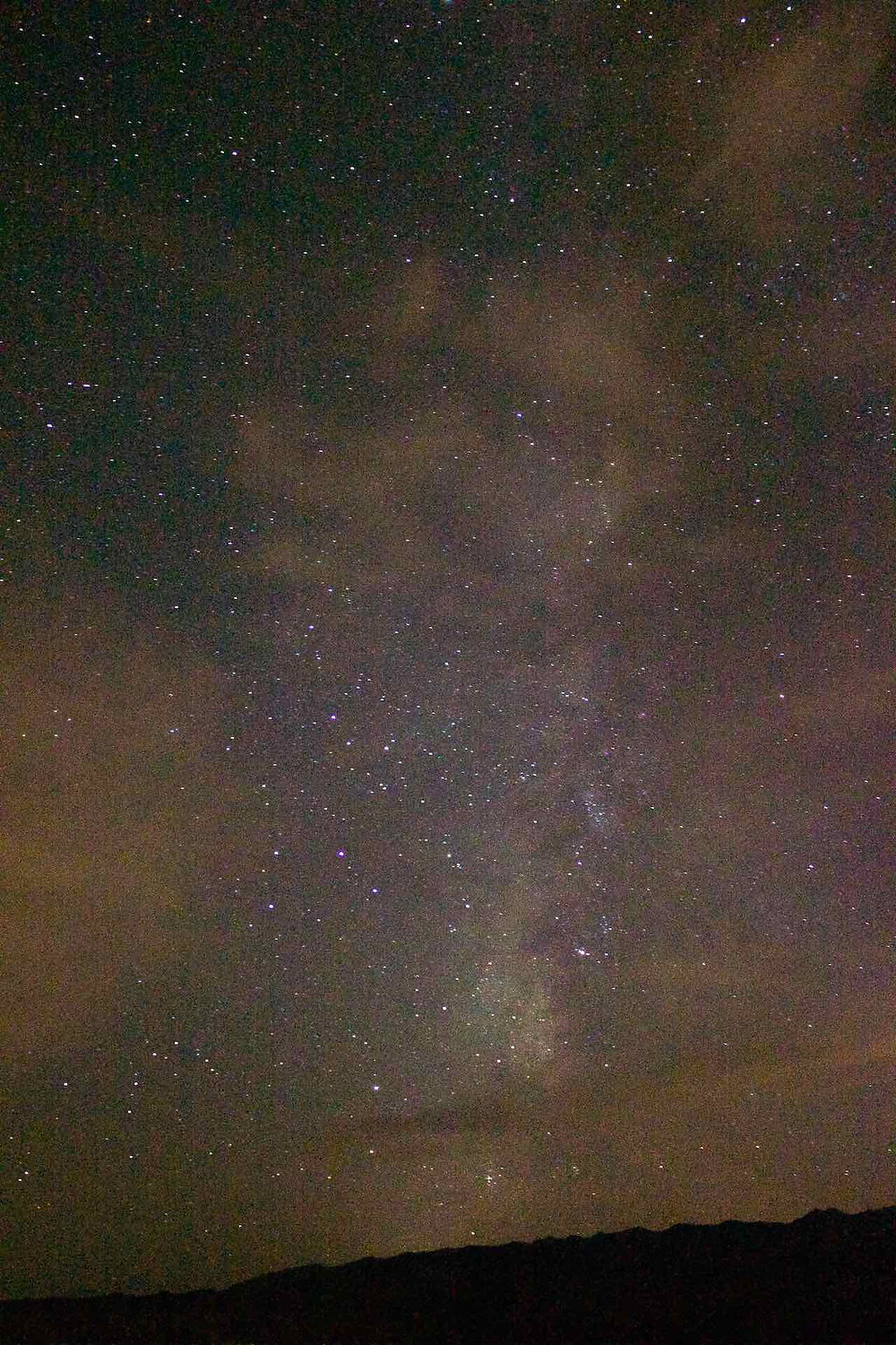 The Milky Way with clouds