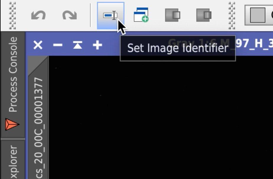 PixInsight Set Image Identifier shortcut icon