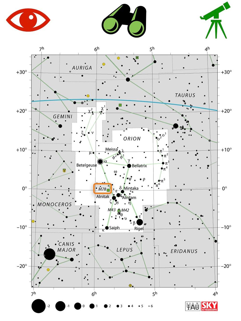 Comment trouver M78 dans le ciel