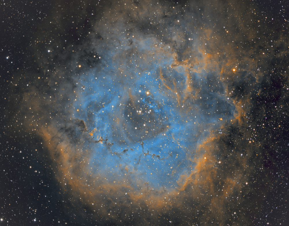 The Rosette Nebula Astrophotography - ZWO ASI 1600MM and Tak E-180