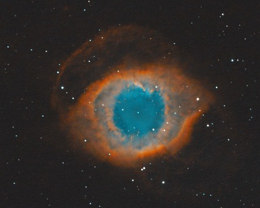 The Helix Nebula (NGC 7293) CMOS Astrophotography with a ZWO ASI 1600MM-Pro monochrome cooled camera in Nevada