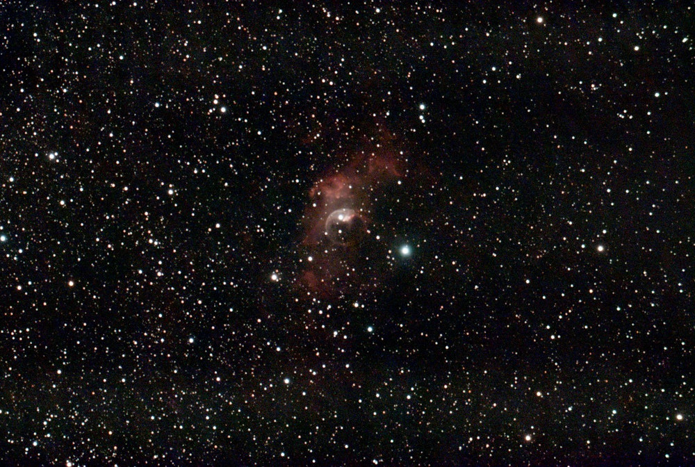 The Bubble Nebula (NGC 7635) taken with Stellina from Vaonis. 1 hour of total exposure.