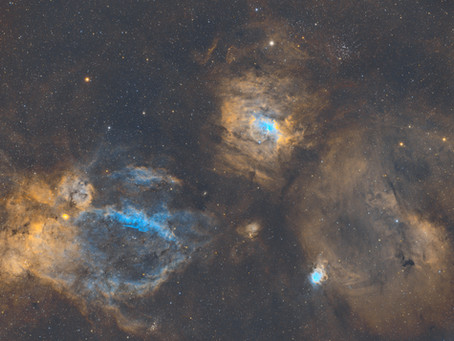 NGC 7635 - The Bubble Nebula in Narrowband