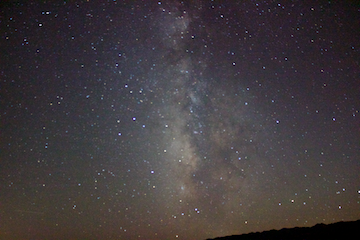 Milky Way out of focus