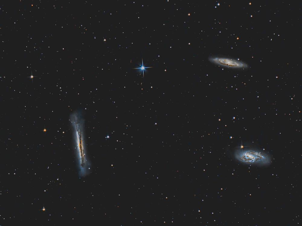 The Leo Triplet DSLR Astrophotography Canon 7D Mk2 Orion Telescope