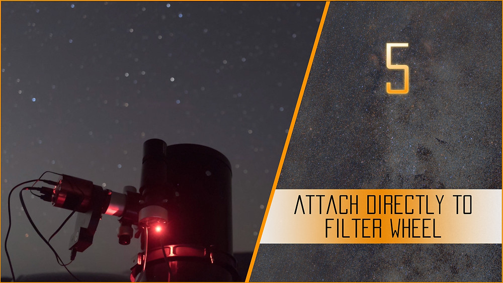 Switching to a Cooled CCD/CMOS Astrophotography Camera - 5 things we wish we knew - attach close to the filter wheel
