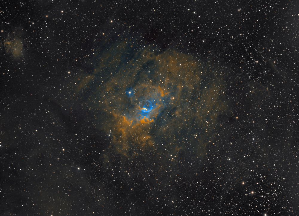 "The Bubble Nebula NGC 7635 DSLR Astrophotography ZWO ASI 1600MM-Pro and Orion 8"" Astrograph Telescope"
