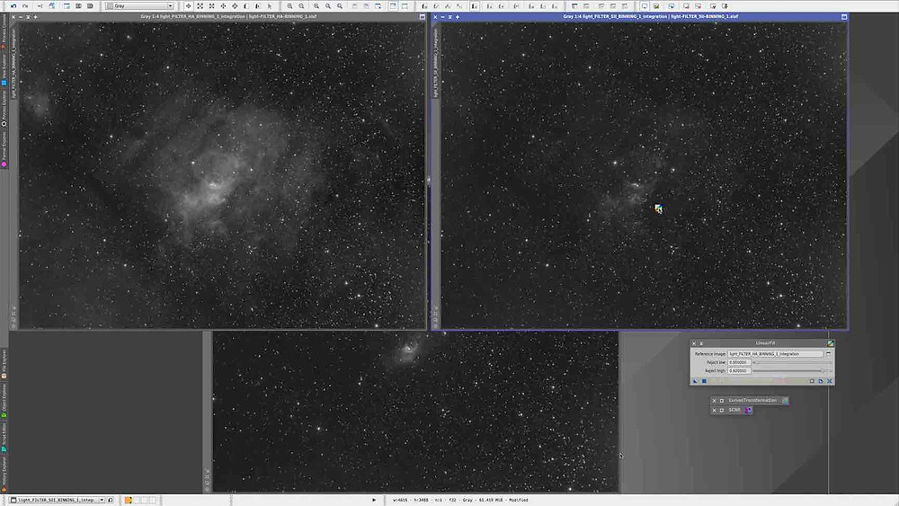 Linear Fit How to combine narrowband images in PixInsight, tutorial by Galactic Hunter in Hubble Palette