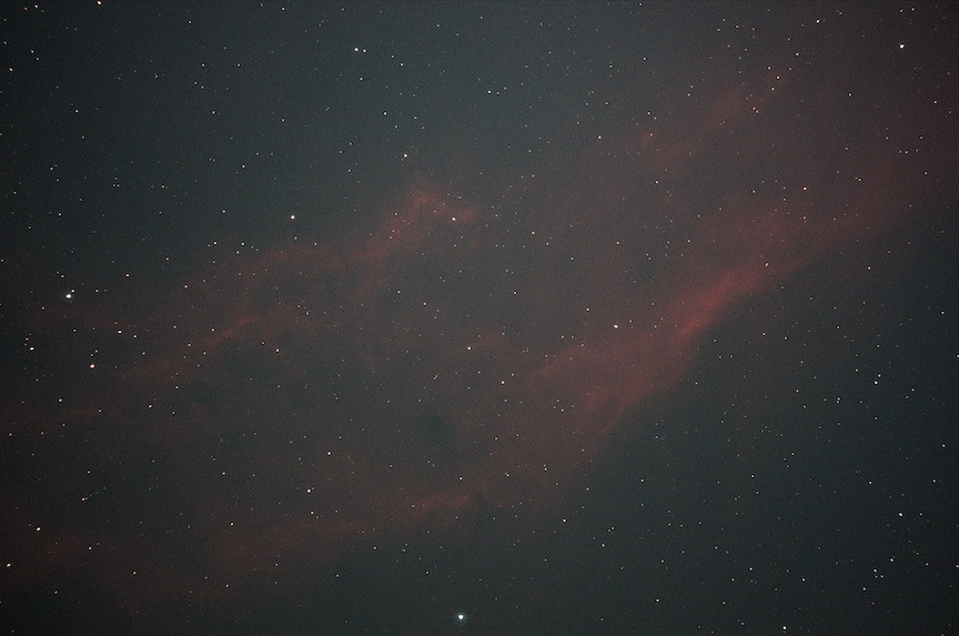 The California Nebula single shot with the TRIAD ultra filter