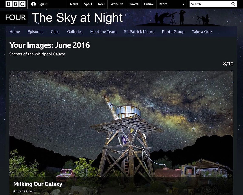 BBC The Sky At Night Antoine Grelin Galactic Hunter Milky Way