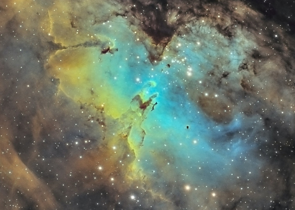 The Pillars of Creation with a beginner telescope