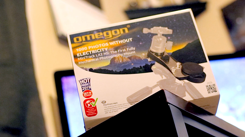 Unopened box that contains the Omegon Mini Track LX2. DSLR wide field Astrophotography in Nevada