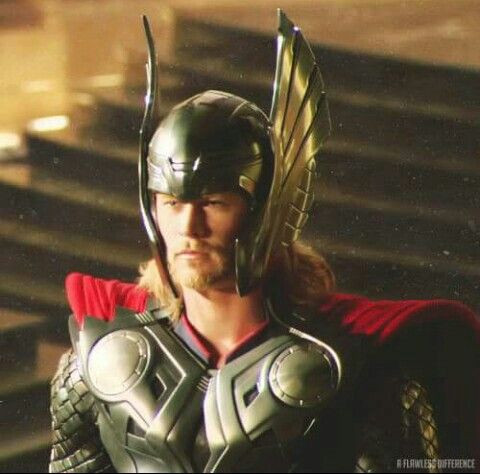 Thor with his helmet - Marvel Studios