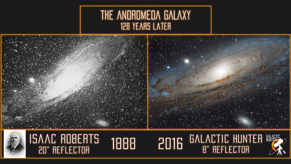 The Andromeda Galaxy: 1888 vs now Astrophotography