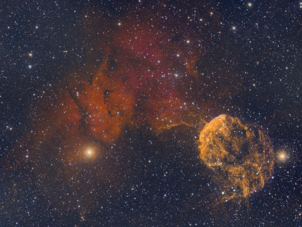 The Jellyfish Nebula narrowband HSO combination