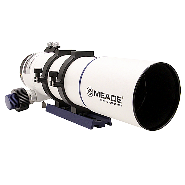 Meade 6000 series 70mm APO wide field refractor telescope for beginner amateur astrophotographers, perfect first telescope for wide angle astrophotography