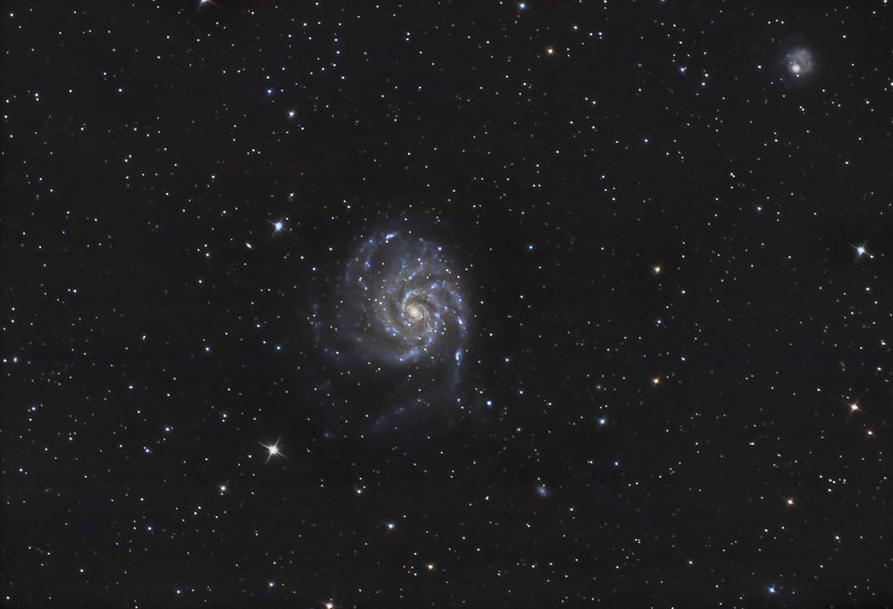 The Pinwheel Galaxy M101 DSLR Astrophotography Canon t3i Orion Telescope