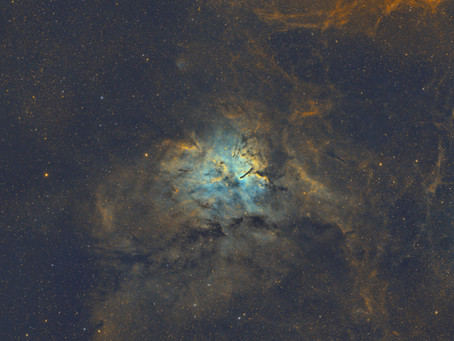 NGC 6820 - A Beautiful Emission Nebula imaged from our Backyard