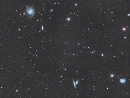 M99 and M100 - Astrophotography of 2 messier objects in a field of galaxies