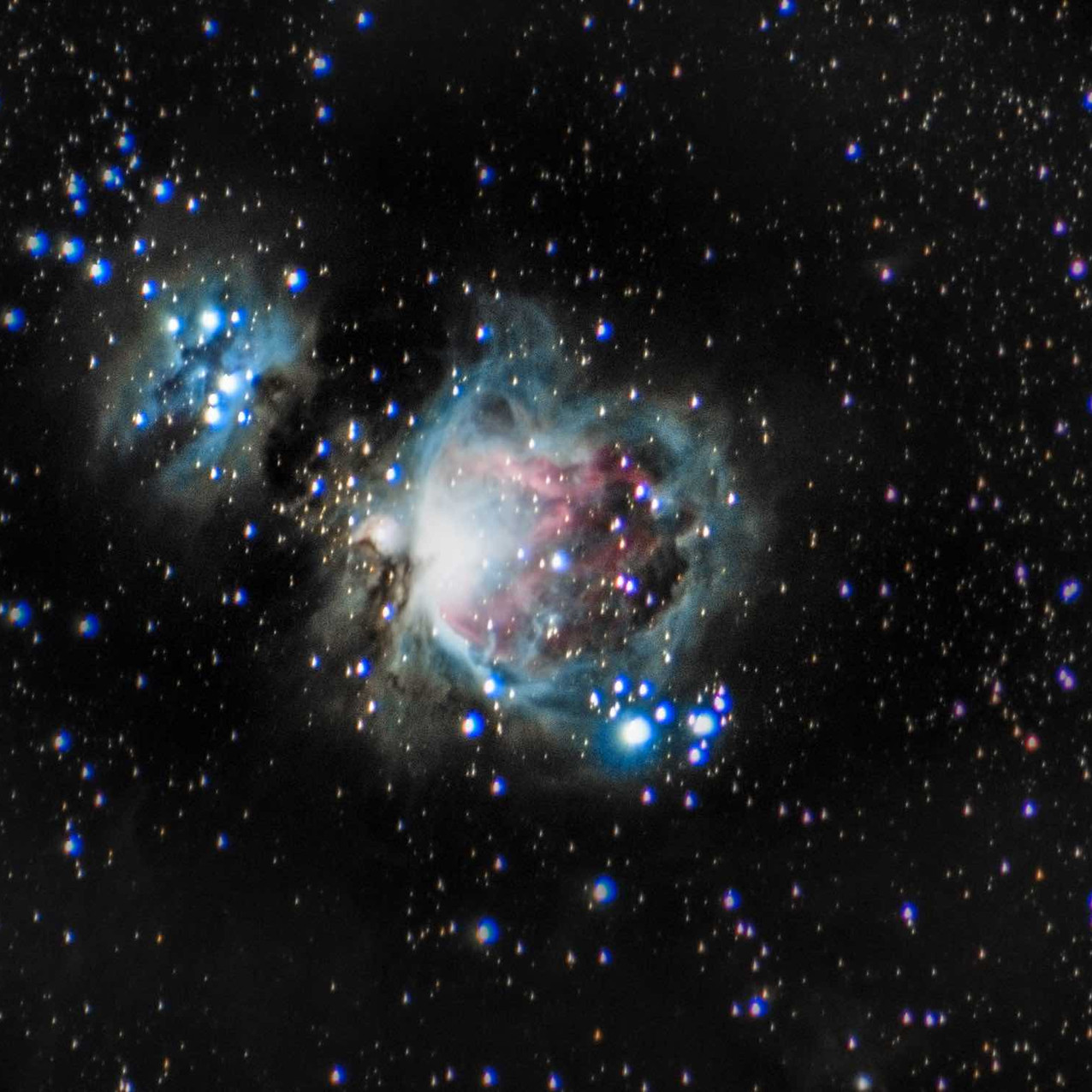 M42 wide field DSLR astrophotography without a telescope using a Canon t3i and an iOptron SkyTracker