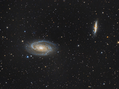 M81 & M82 - BODE'S GALAXY & THE CIGAR GALAXY