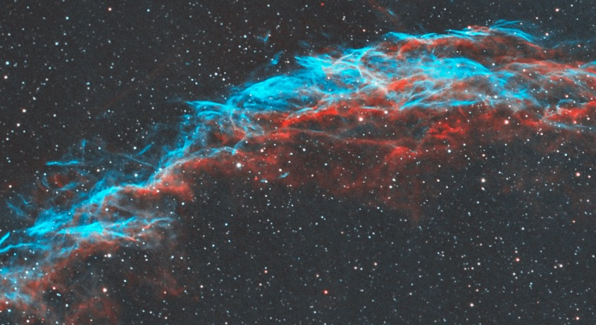 Details in the filaments of the Veil Nebula