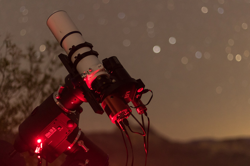 Atlas EQ-G Mount with a ZWO ASI 1600MM-Pro Astrophotography using a Meade 70mm APO Astrograph f/5 refracting telescope in the Nevada desert and with an ASI Air