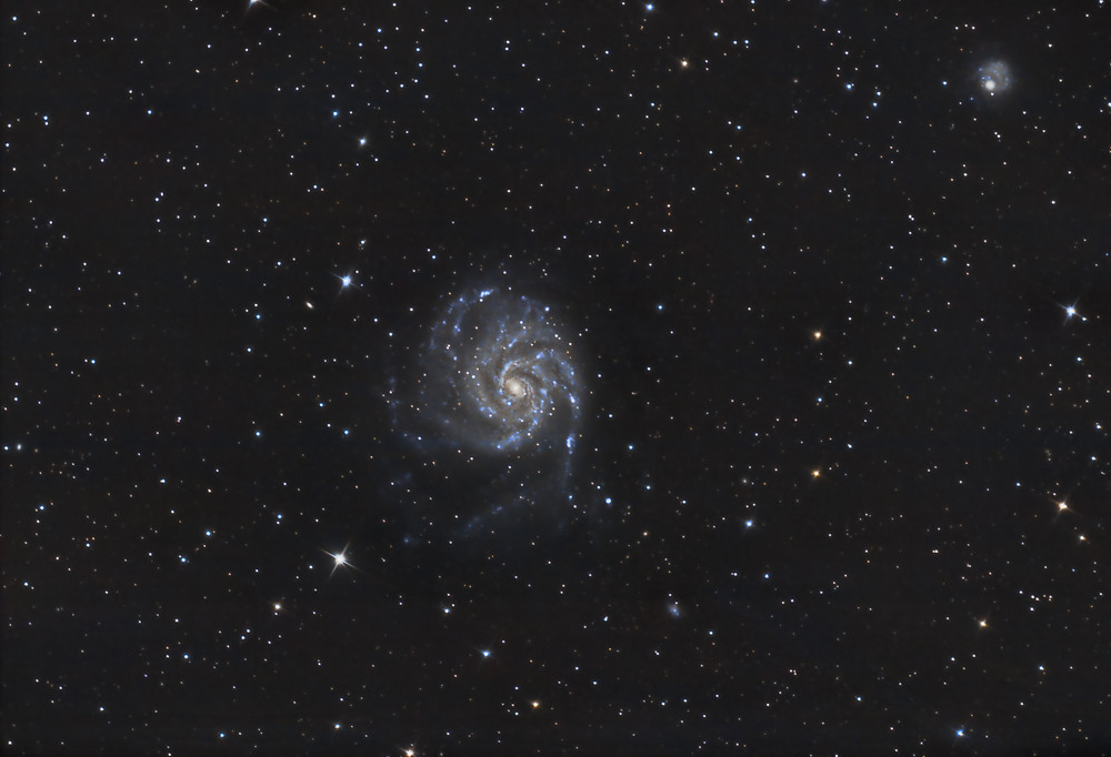 "M101 the Pinwheel Galaxy Astrophotography Orion 8"" Astrograph and stock DSLR camera"