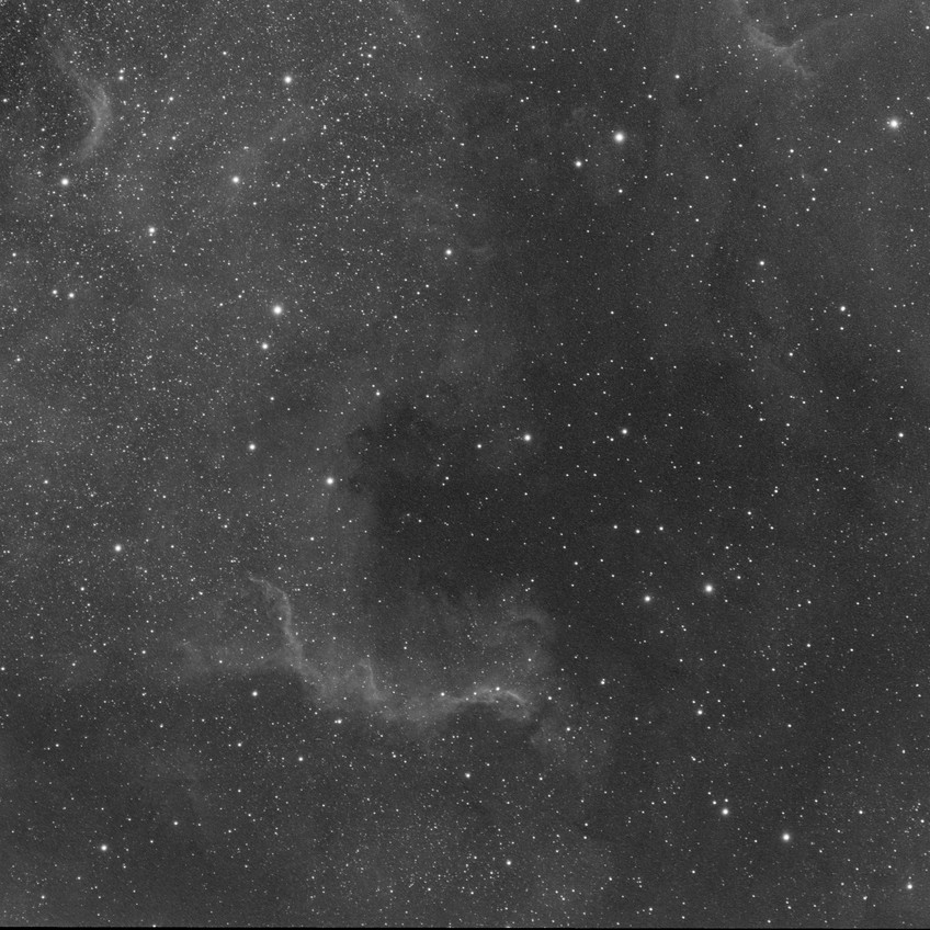 NGC 7000, 1 hour of SII with the ASI 1600MM Astrophotography CMOS camera and the Meade 70mm APO Astrograph telescope