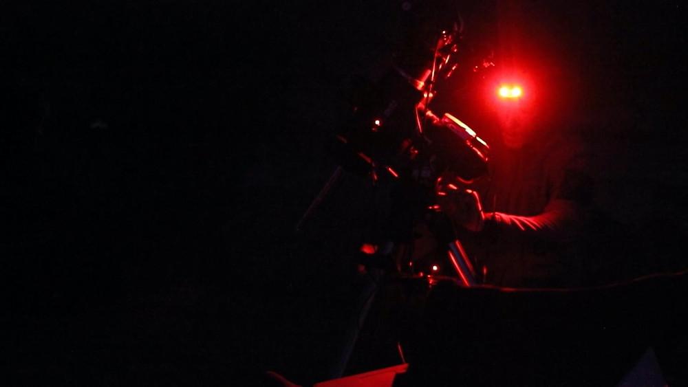 red headlight astrophotography telescope