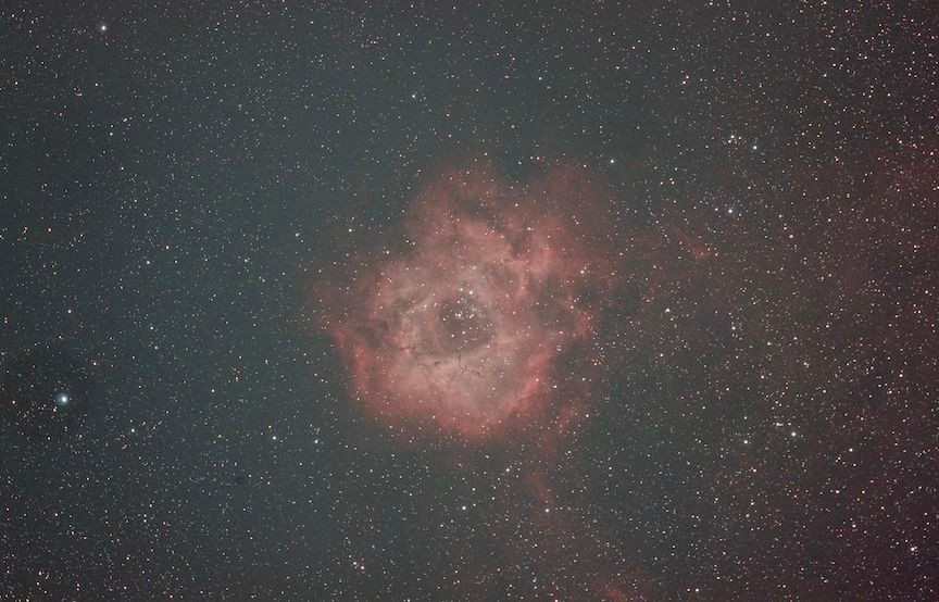 Rosette Nebula astrophotography 1 hour