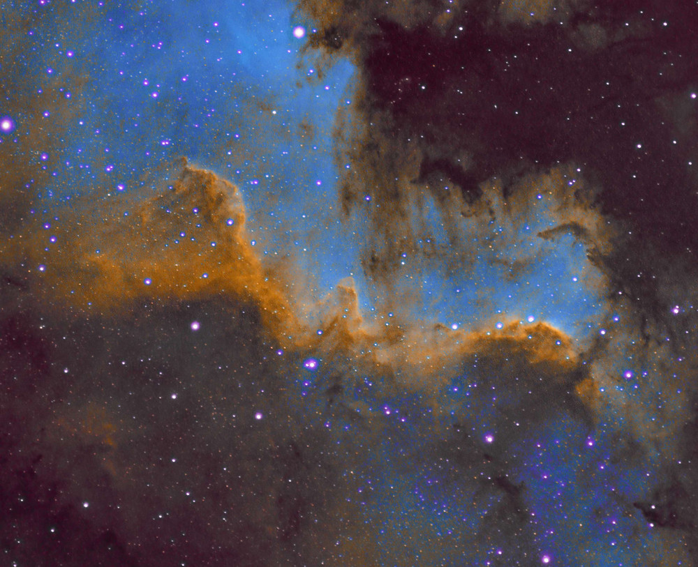 NGC 7000 Cygnus Wall Astrophotography ASI 1600MM cooled CMOS camera and Meade 70mm APO telescope