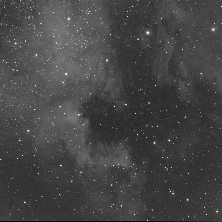 NGC 7000, 1 hour of OIII with the ASI 1600MM Astrophotography CMOS camera and the Meade 70mm APO Astrograph telescope