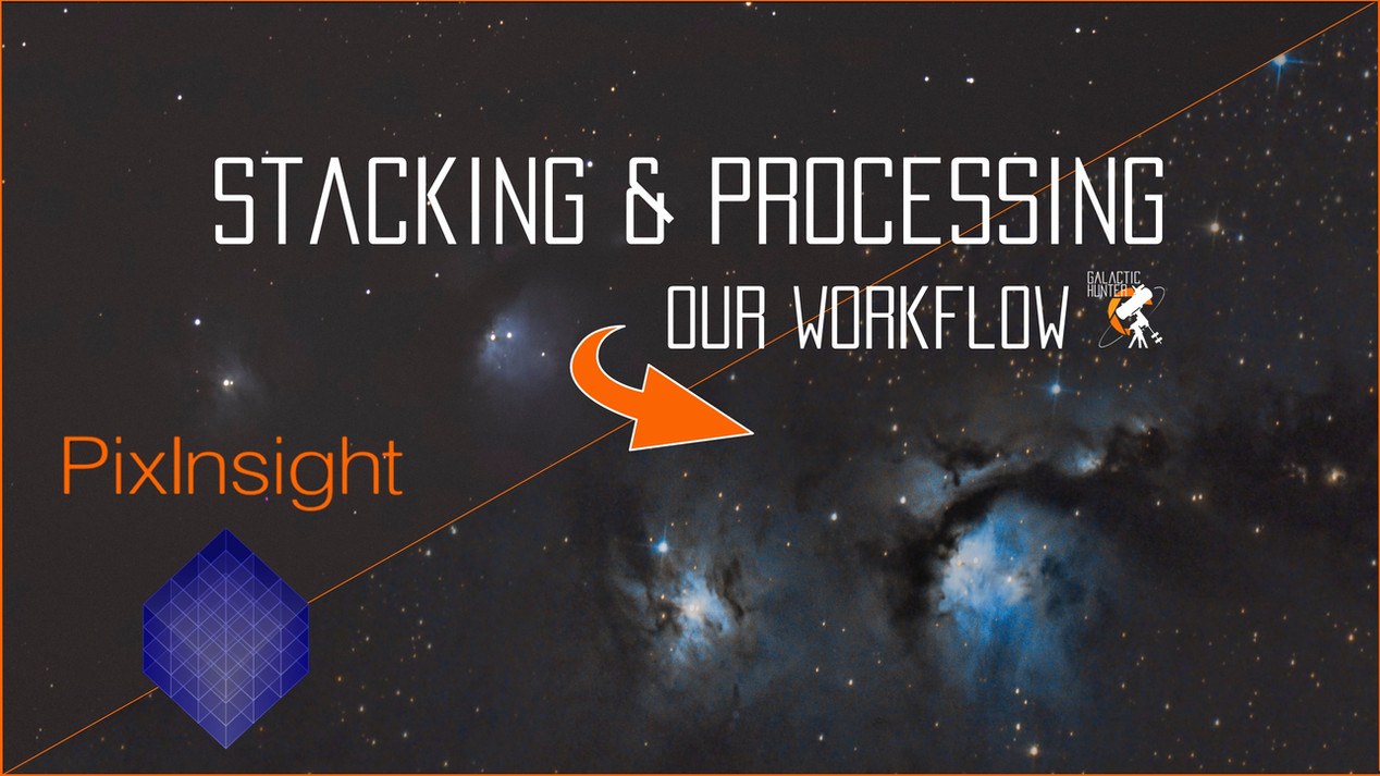 Astrophotography tutorial for PixInsight and Lightroom. How to stack deep sky images and process raw files from a DSLR camera and telescope