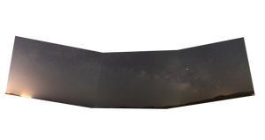 Milky Way mosaic panorama Canon