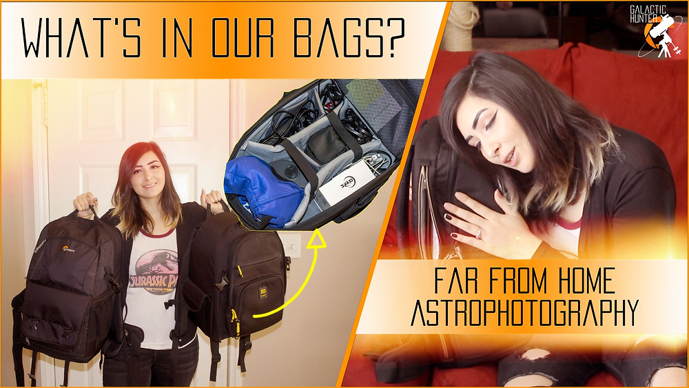 What's in our bags for Astrophotography far from home in the Nevada Desert